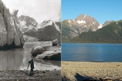 Glaciers now and then